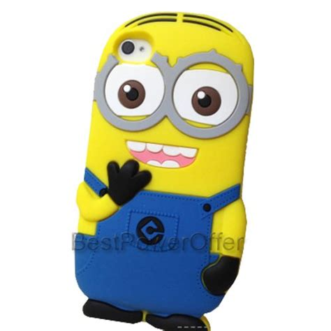 minion themes for iphone 4 3d despicable me 2 minion soft silicone case for apple