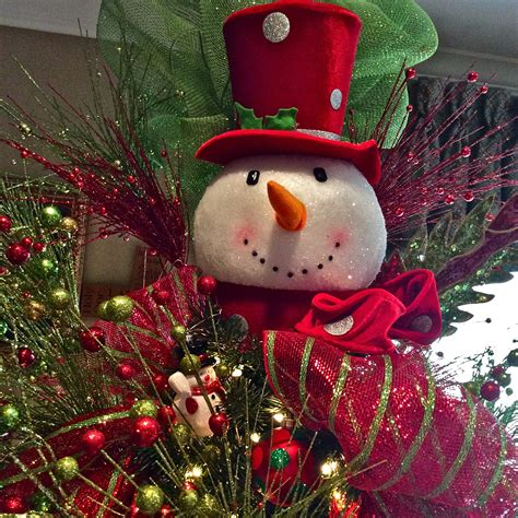 cracker barrel snowman tree topper snowman tree topper craft ideas