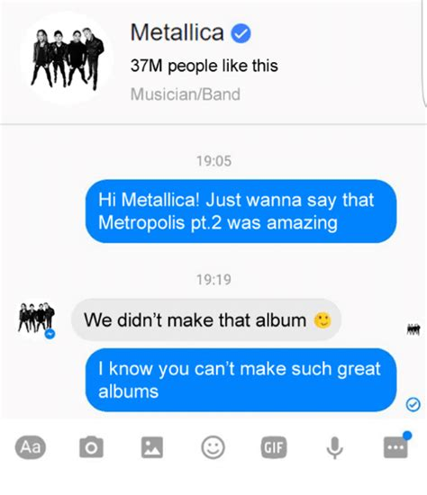 And Just Like That Im 19 Entertainments A by 25 Best Memes About Metallica Metallica Memes
