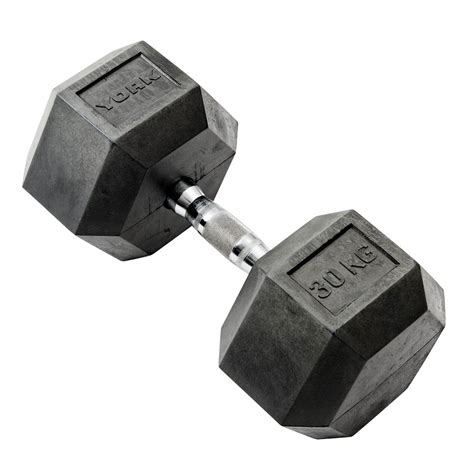 Dumbell 30kg york 30kg rubber hex dumbbell