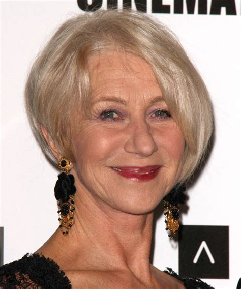 helen mirren cuts hair elegant hairstyles helen mirren short straight formal hairstyle light
