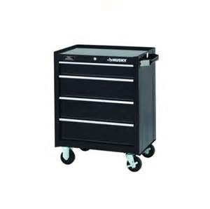 husky 26 in black 4 drawer tool chest cabinet box storage