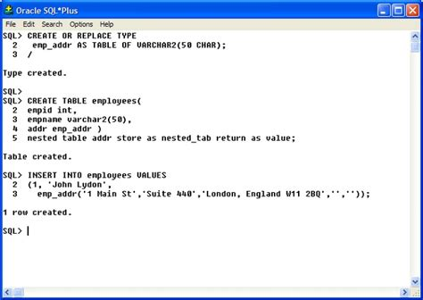 Insert Into Table Oracle by Pl Sql Nested Tables