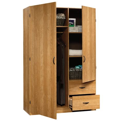 sauder clothing armoire wardrobe storage cabinet bedroom storage