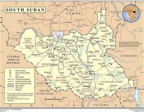 map of sudan south sudan