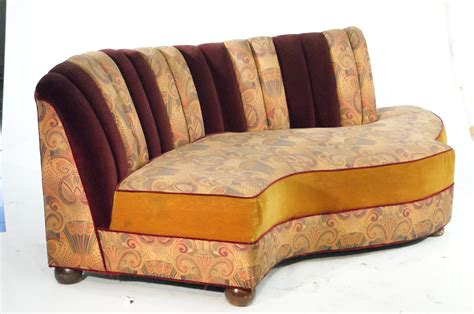 art deco style sofas vintage jazz style kidney shaped art deco sofa with shell back