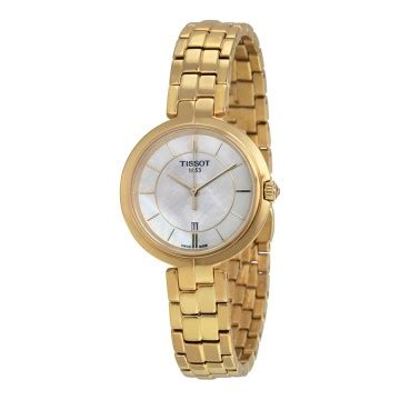 Tissot Flamingo Of Pearl Gold Stainless Steel T09421033 tissot flamingo watches jomashop
