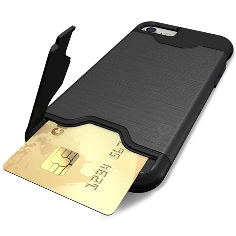 for apple iphone 8 iphone 7 card holder with kickstand tough cover ebay