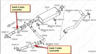 2006 Nissan Maxima Catalytic Converter Bank 1 How To Replace A Catalytic Converters On A 2004 Nissan Titan