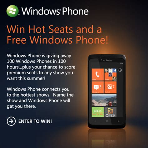 Windows Phone Giveaway - giveaway wp7 connect