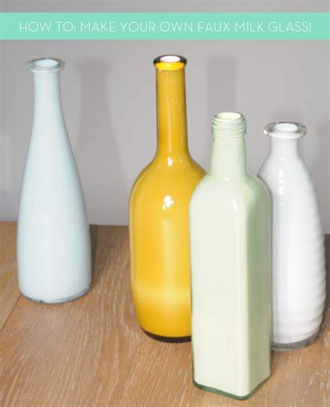 design your own milk bottles how to make your own diy faux milk glass 187 curbly diy