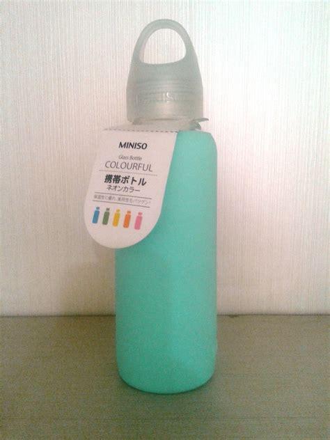 Botol Miniso sell bm1 botol minum kaca miniso hijau from indonesia by