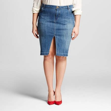 s plus size denim pencil skirt who what wear target