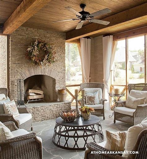 screened porch with fireplace screened porch designs