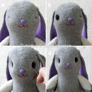 sock bunny sewing tutorial sock lop eared bunny free sewing pattern craft