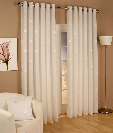 Windows Drapes by Miami Eyelet Voile Curtains Natural Free Uk Delivery
