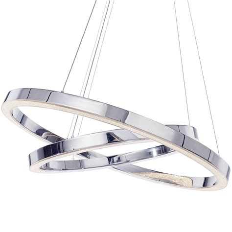 Buying A Kitchen Island by Spark Led Dual Hoop Ceiling Pendant Light Chrome From
