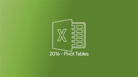pivot tables 2016 excel 2016 pivot tables atomic