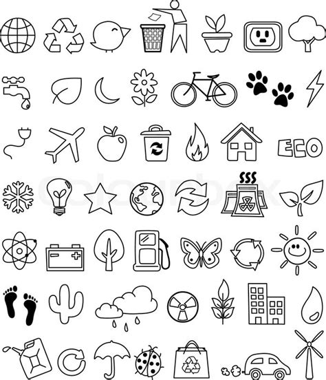 how to use doodle to set up a meeting eco doodle icon set stock vector colourbox