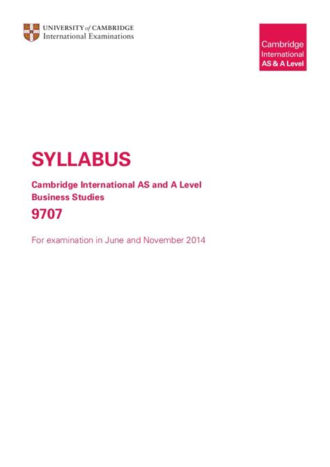 Business Mathematics Syllabus For Mba by 91325 2014 Syllabus Business Studies