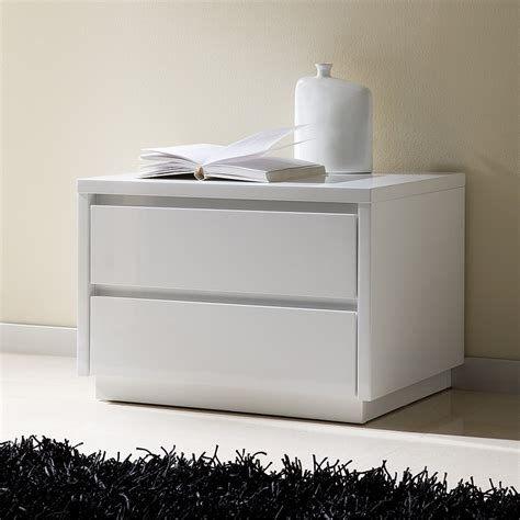 Commode Laquée Blanc 6 Tiroirs by Table De Chevet Design Laquee Blanche Tobia Zd1 Chv A D