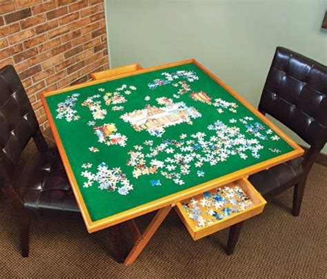 jigsaw puzzle table with drawers plans the world s catalog of ideas