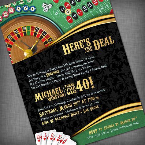 free templates for casino invitations casino theme invitation for birthday party casino game