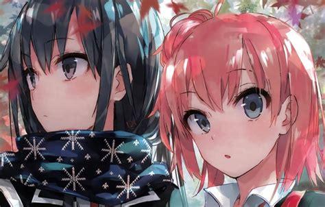 anime oregairu wallpaper двое девочка аниме oregairu арт images for