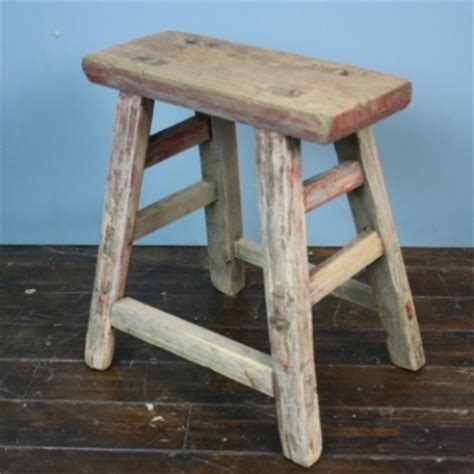 rustic wooden stool l55 lovely and company