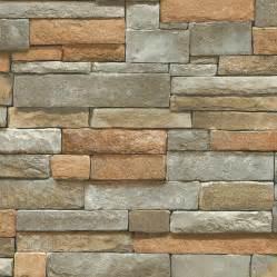 brick backsplash lowes blue mountain ledge brown peelable vinyl prepasted
