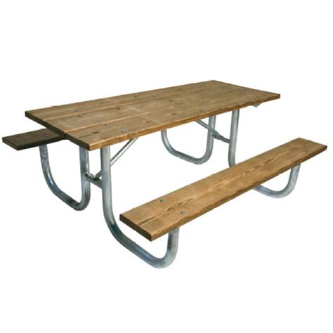 heavy duty picnic table ultraplay pressure treated wood steel heavy duty