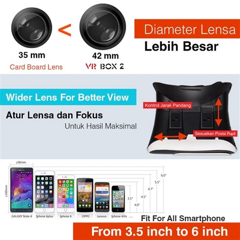 Promo 3d Vr Box T T3 M01 Cardboard 2 With Capacitive Touch Glasses K jual vr box 2 t3 m01 w magnetic button cardboard glasses blackidea