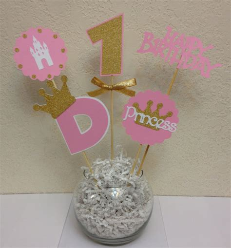 royal crown centerpieces princess crown centerpiece skewers pink and gold
