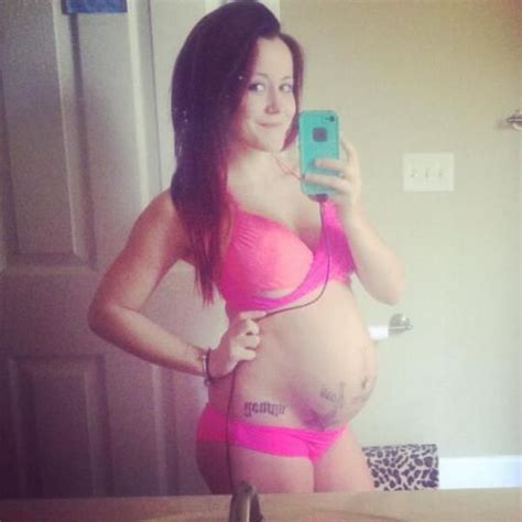 tattoo hot shower holy baby bump pregnant teen mom jenelle evans strips