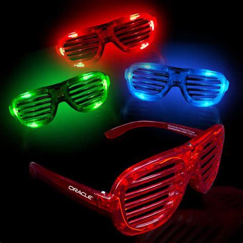 led lights for glasses promotional light up led slotted glasses usimprints