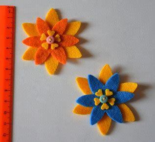 fiori di panno lenci fiori in pannolenci materiali stoffa e filati di