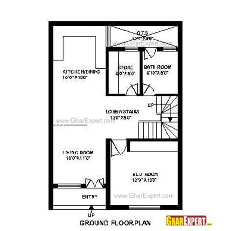 plans for a 25 by 25 foot two story garage house plan for 25 feet by 35 feet plot plot size 97