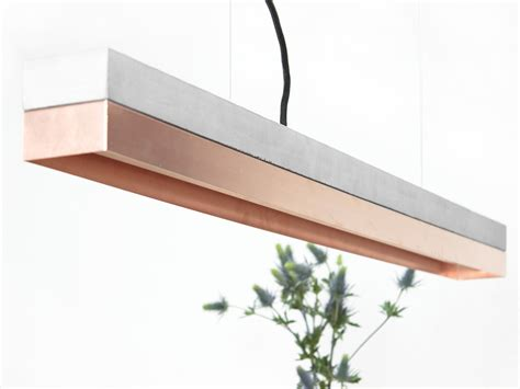 [C1] copper pendant light   concrete copper by GantLights