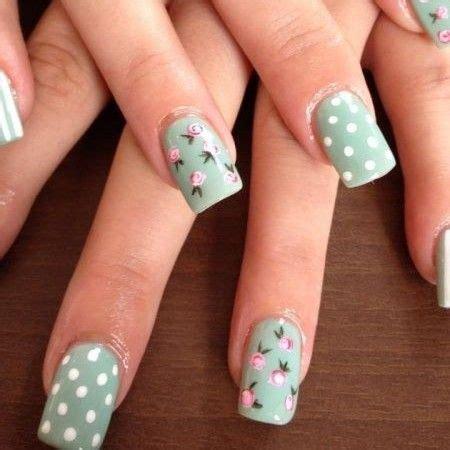 imagenes de uñas decoradas verde agua u 241 as acrilicas color verde agua