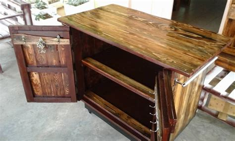 pallet rustic kitchen island pallet ideas recycled