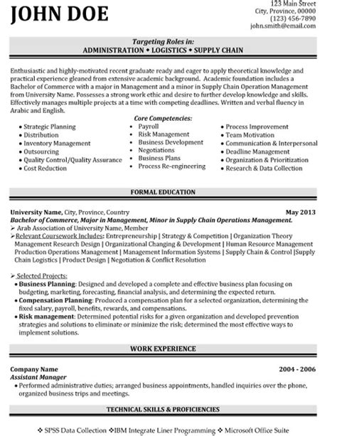 Supply Chain Resume by Top Supply Chain Resume Templates Sles