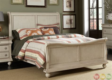 whitewash bedroom furniture rustic traditions ii whitewash sleigh bedroom furniture set