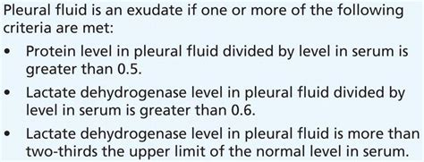 Light Criteria by Light S Criteria For Classification Of An Effusion Er