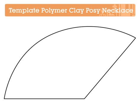 template to make a cone tip make a polymer clay posy pendant tuts crafts