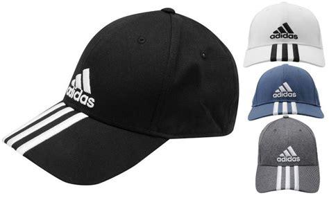 adidas perforated 3 striped baseball cap golf tennis