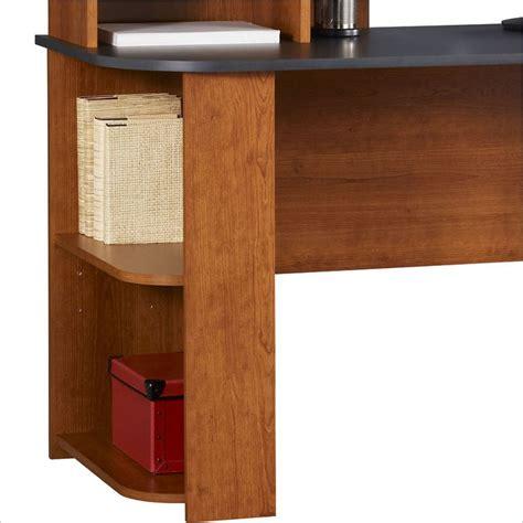 Cherry Finish Computer Desk Ameriwood Wood Cherry Finish Computer Desk Ebay