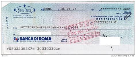 banc adi roma credito emiliano assegno bancario delce net