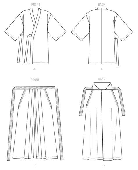 kimono jacket pattern mccalls mccall s m7525 kimono and hakama pattern from yaya han