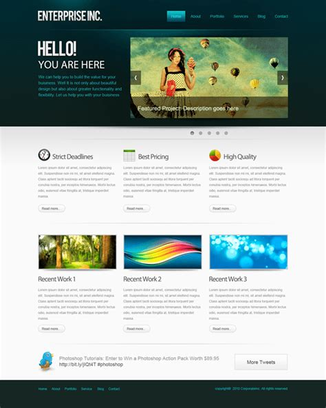How To Create A Professional Web Layout In Photoshop Photoshop Tutorials Web Layout Templates