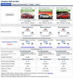 Compare Toyota Models Does Toyota S Auris Hybrid Out Prius The Prius